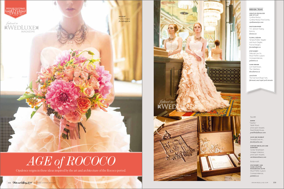 Wedluxe Style File - Age of Rococo