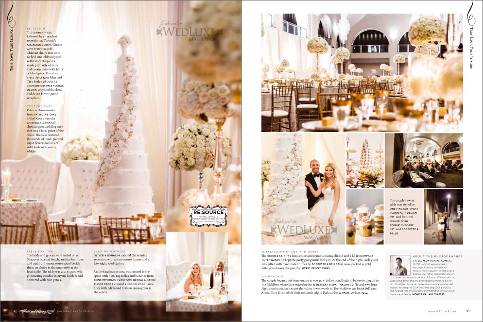 Alicia and Joshua in Wedluxe
