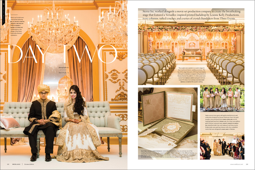 Nadia & Sohaib in Wedluxe Summer/Fall 2015