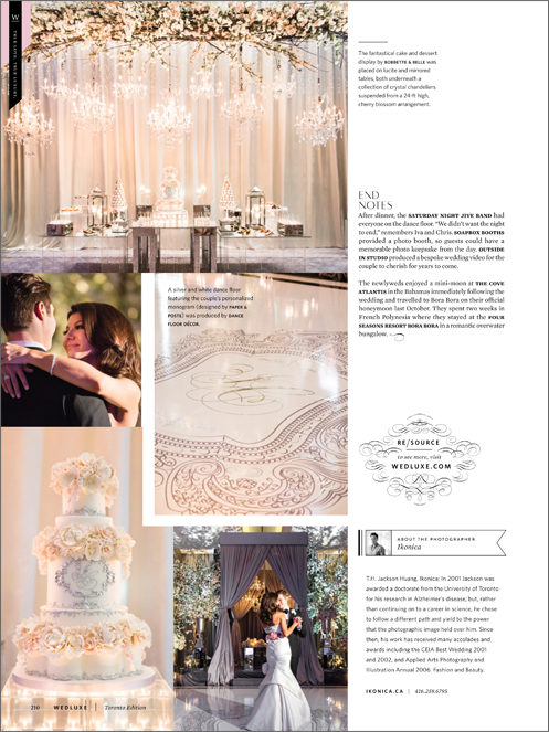 Iva & Chris In Wedluxe Winter/Spring 2016